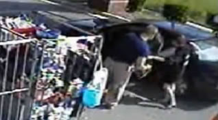 Ira Yarmolenko on surveillance video at a Goodwill store in Charlotte, North Carolina.