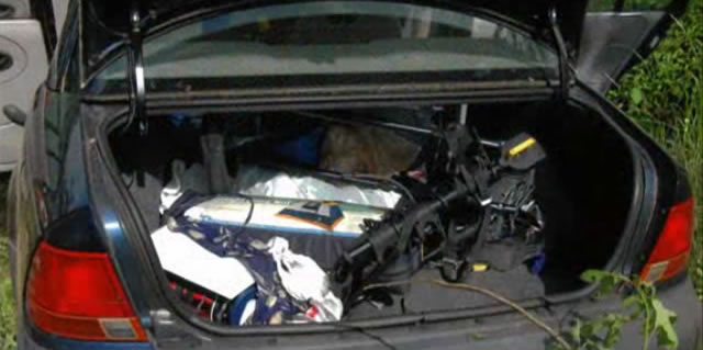 Ira Yarmolenko's car trunk was filled with gear.